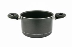 Black saucepan Stock Images