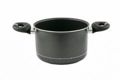 Black saucepan stock images