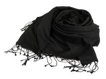 Black scarf Stock Images