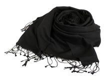Black scarf. Beautifull black scarf isolated on white background Stock Images