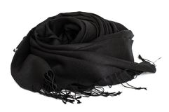 Black scarf Stock Photo