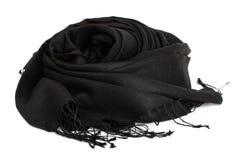 Black scarf. Beautifull black scarf isolated on white background Stock Photo