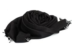 Black scarf Royalty Free Stock Images