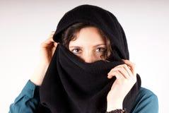Black scarf Royalty Free Stock Photos