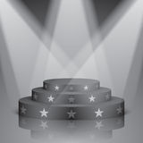 Black scene with white stars and lighting. Stock Photography