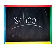 Black school board Royalty Free Stock Photos