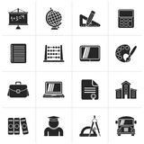 Black School and Education Icons. Vector icon set Vector Illustration