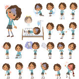Black school girl  About the sickness Royalty Free Stock Photos