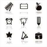 Black School Icons Stock Image