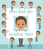 Black schoolboy text box Stock Images