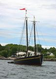Black Schooner Royalty Free Stock Image