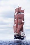 Black schooner Stock Photo