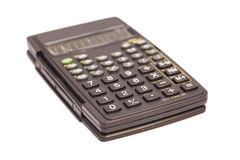 Black scientific calculator Royalty Free Stock Image