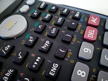 close up of scientific calculator with white background royalty free stock photography