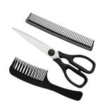 Black scissors and combs isolated on white Royalty Free Stock Photos