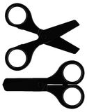 The black scissors Royalty Free Stock Images