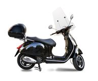 Black scooter. Isolated on white Royalty Free Stock Photography