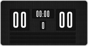 Black scoreboard with no score Royalty Free Stock Photography