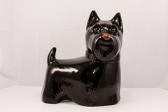 Black scottie dog. A cookie jar I purchased for my wife many years ago royalty free stock photography