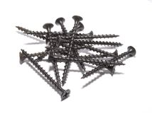 Black screws Stock Image