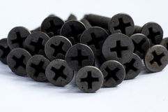 Black screws for metal use Royalty Free Stock Photography