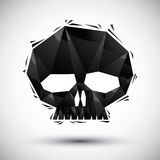 Black scull geometric icon made in 3d modern style, best for use Royalty Free Stock Photography