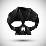 Black scull geometric icon made in 3d modern style Stock Photos