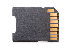 Black SD card isolated with clipping path Royalty Free Stock Images