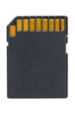 Black SD Memory Card Royalty Free Stock Photos