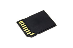 Black SD Memory Card Royalty Free Stock Image