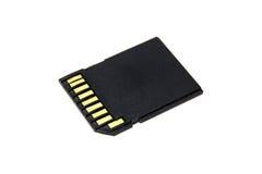 Black SD Memory Card Royalty Free Stock Image