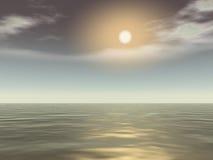 Black sea. The black sea with small sun Royalty Free Stock Photo