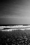 Black Sea. Black and White of the Sea Royalty Free Stock Photos