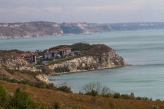 Black sea. Landscape with houses bulgaria black sea stock images