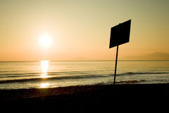 Black sea. Bulgaria-2008 It starts the new day. The sun punctures a road for itself in its oort clouds stock image