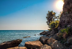 The Black Sea in Abkhazia Stock Image
