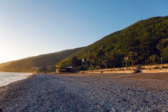 Black Sea in Abkhazia unusually clean and bright Royalty Free Stock Image