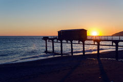 Black Sea in Abkhazia unusually clean and bright Stock Image