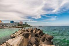 Black Sea. Amazing view,Romania stock photography