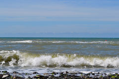 Black sea in the Atlantic ocean. On a sunny day Royalty Free Stock Photo