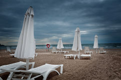 Black sea beach. In september Royalty Free Stock Photo
