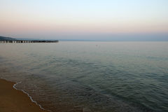 Black sea beach. In Bulgaria Stock Photos