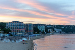 Black Sea beach in the evening Stock Photography