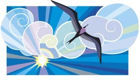 Black sea-bird Royalty Free Stock Photography