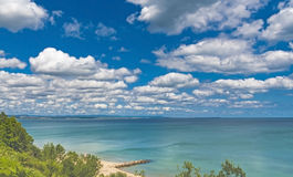 Black sea. By Burgas in Bulgaria royalty free stock photo