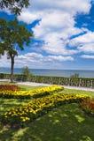 Black Sea at Burgas in Bulgaria Stock Images