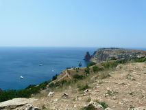 The black sea at Cape Fiolent Royalty Free Stock Image