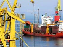 Black sea cargo port in Odessa, Ukraine Royalty Free Stock Images