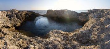 Black sea cave Stock Image