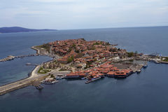 Black sea city from Bulgaria Royalty Free Stock Photos